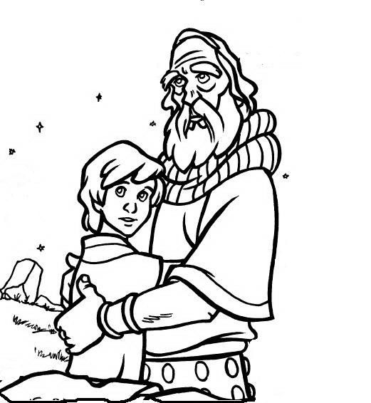 Abraham Coloring Sheet See More And Issacc Activity