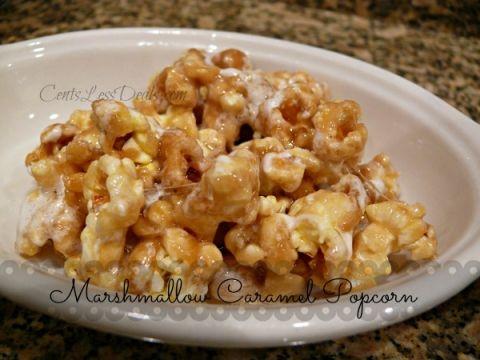 Marshmallow Caramel Popcorn   CentsLess Deals