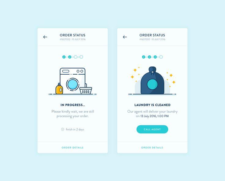 Order Status Screen - Laundry App