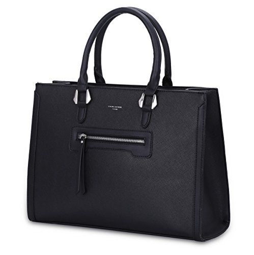b79f763079 David Jones - Grand Sac à Main Femme - Cabas Fourre-Tout Cuir PU Rigide