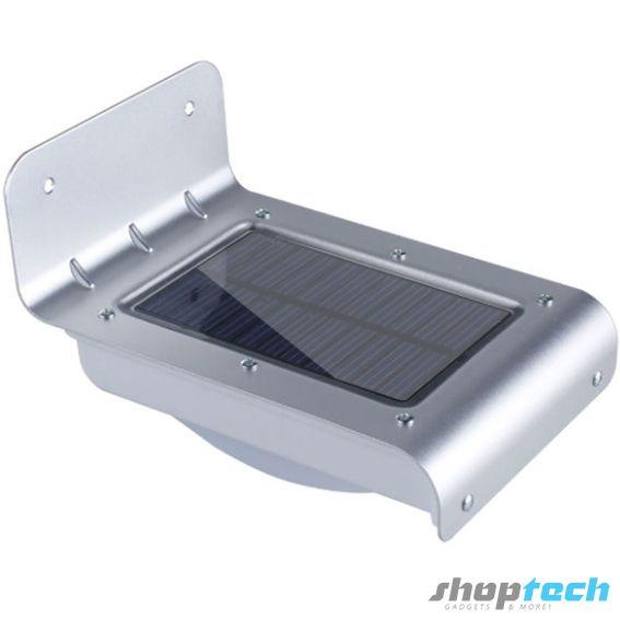 Lámpara Solar LED con sensor de encendido automático. Diseño contemporáneo y resistente a exteriores.
