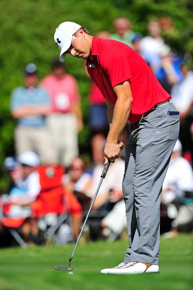 In the last nine months Jordan Spieth has won his first PGA Tour event at age 19 in a playoff over 2007 Masters champion Zach Johnson at the John Deere, lost another playoff, been runner-up in the Tour Championship, competed in a Presidents Cup and climbed to the brink of the top 10 in the world. JON-MICHAEL SULLIVAN/STAFF