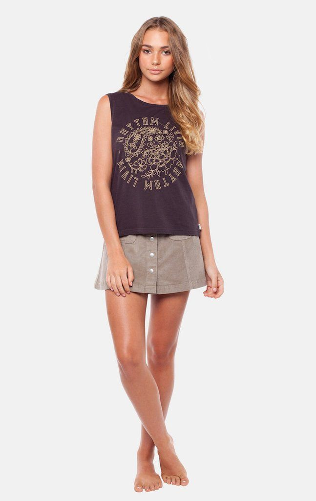 RHYTHM SAHARA TANK ROCK BLACK-Shop for the hottest Designer Clothes, Shoes, Handbags & Accessories at FRENDZ.ca. Find must-have designer apparel & accessories from top brands.