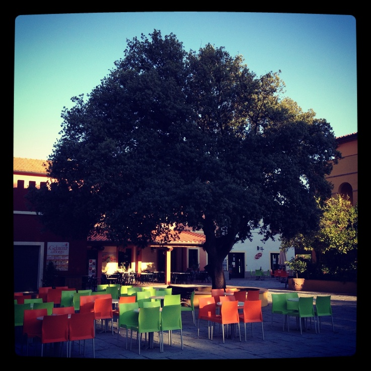 Square in Toscane