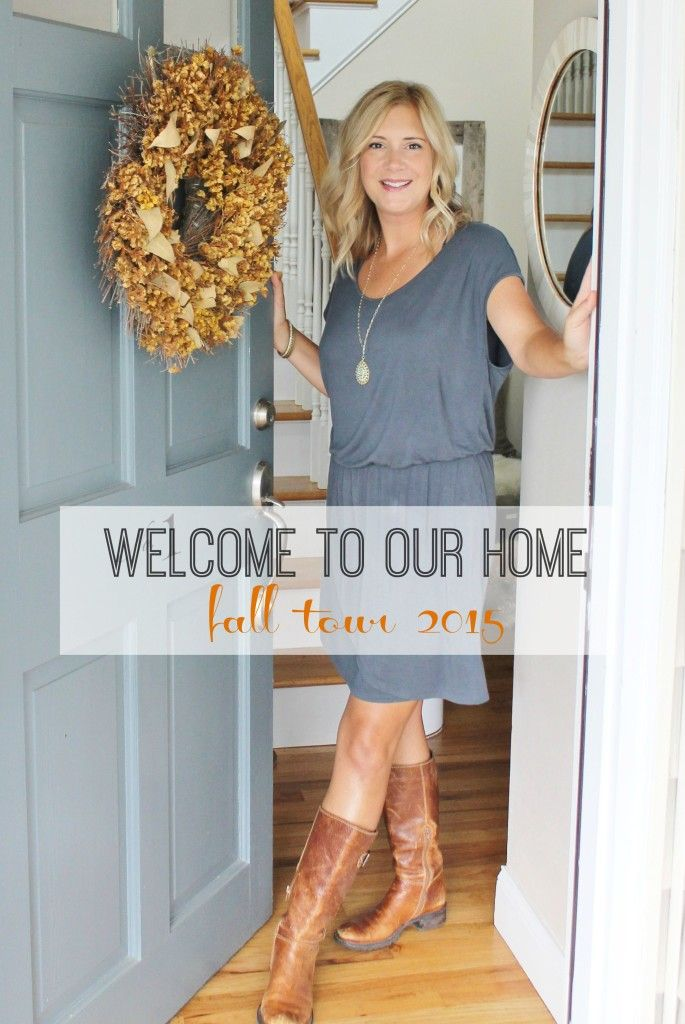 City Farmhouse Fall Tour 2015. Doesn't look like much fall inspiration to me, as I'm pinning it for the front door only. Love the color.