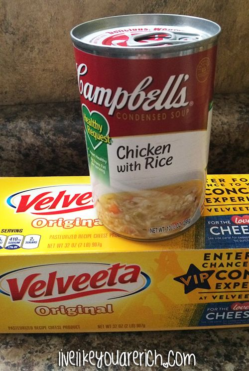 Chicken with Rice and Velveeta Cheese Dip   BlendTec Blender Giveaway!!