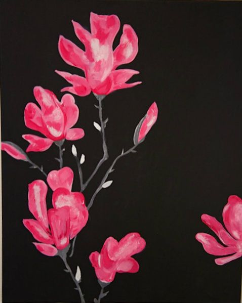 The gorgeous Pink Blooms is the perfect self-masterpiece to hang against any wall in your home.