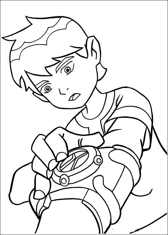 Ben 10 Choose Change Online Coloring