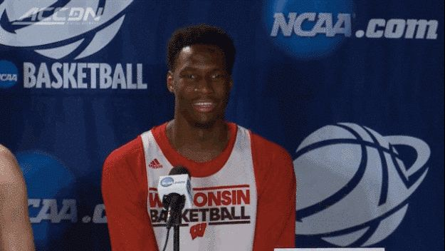 """College Basketball Player Thought His Mic Was Off When He Called A Woman """"Beautiful"""" https://www.youtube.com/watch?feature=player_embedded&v=LlNpVFxQUtE"""