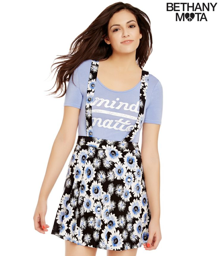 Floral Overall Skirt from Bethany Mota Collection Aeropostale