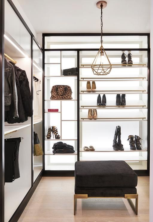 359 best closets images on pinterest closet closets and for Black walk in wardrobe