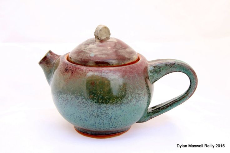 Gorgeous Personal Teapot in Blues, Greens, and Reds by LadybugSoapworks on Etsy