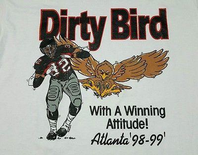 Vintage 1998 Atlanta FALCONS Doing the DIRTY BIRD T-Shirt XL Super Bowl NFL VTG