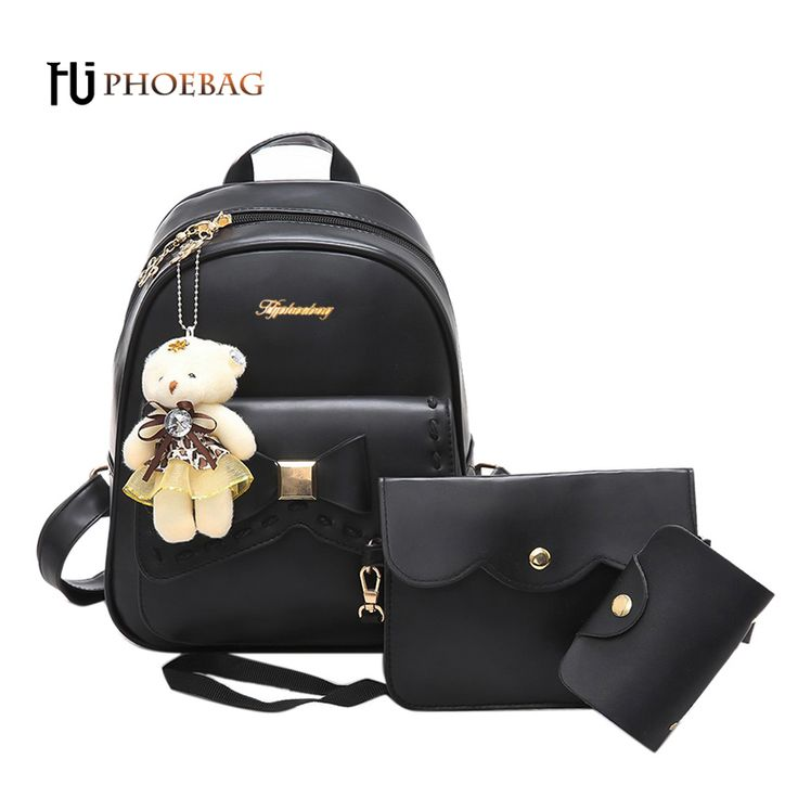 HJPHOEBAG Women backpack 3 Piece set PU leather lady laptop backpacks fashion girl travel package feminine mochila W-505. Yesterday's price: US $25.20 (20.65 EUR). Today's price: US $13.86 (11.33 EUR). Discount: 45%.