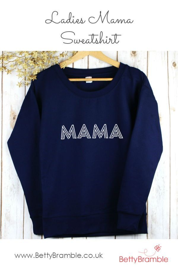 This stylish ladies sweatshirt is perfect for mum's and