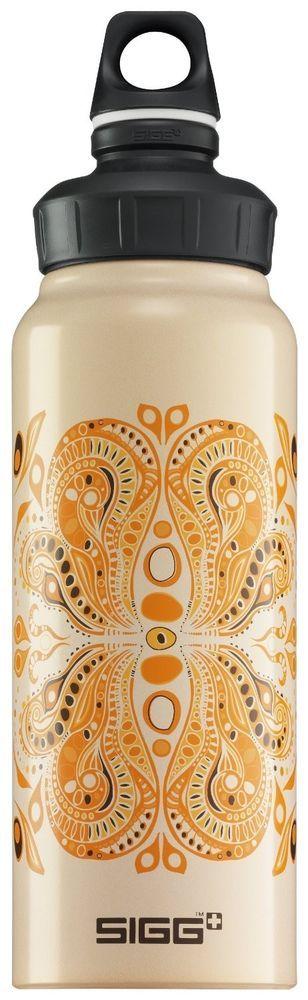 NEW Sigg Satsang Guru Yoga Water Bottle Paisley Art BPA Free 1.0L 1 Liter +GIFT! #Sigg #Yoga #bottle