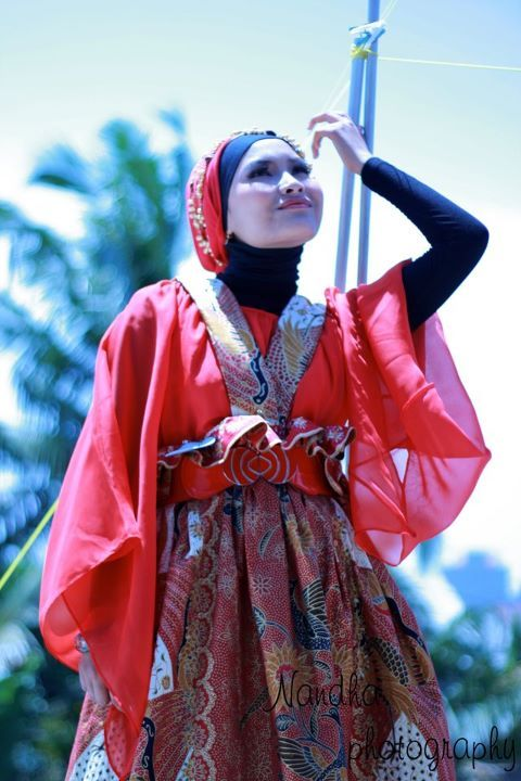 Hijab with Batik Edition by Mama Meme Costume