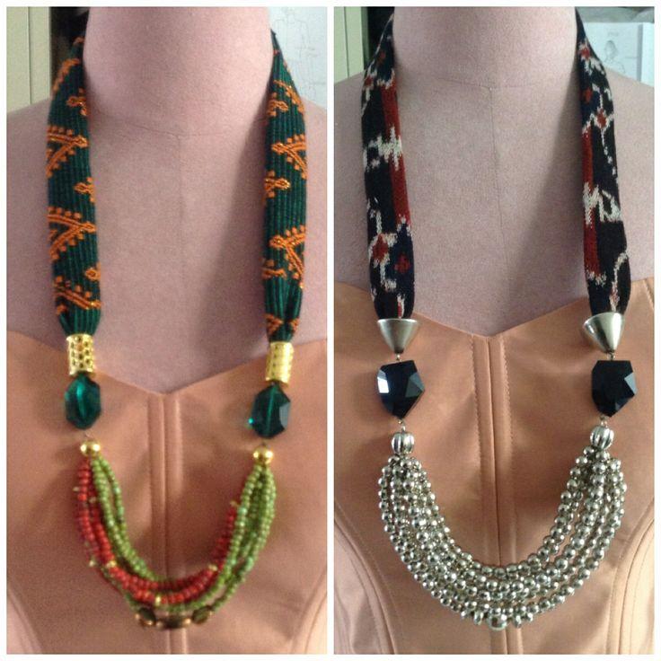 Ikat Weaving necklace