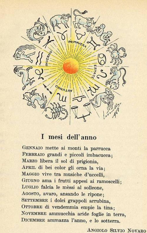 Testo Della Poesia I Mesi Dellanno Di Angiolo Silvio Novaro Versi