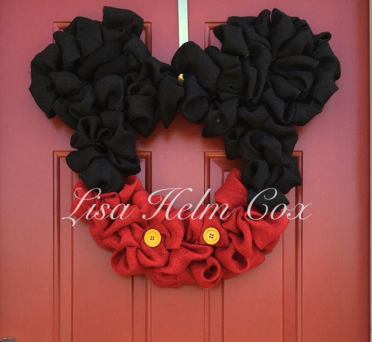 Mickey Mouse burlap wreath