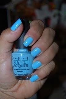 OPIBlue Colours, Blue Opi, Opi Summer Nails Colors, Sky Blue, Baby Blue Nails, Nails Polish, Blue Colors, Summer Colors, Bright Colors