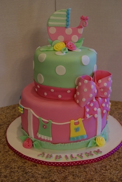 Baby Carriage shower cake By nataliee on CakeCentral.com