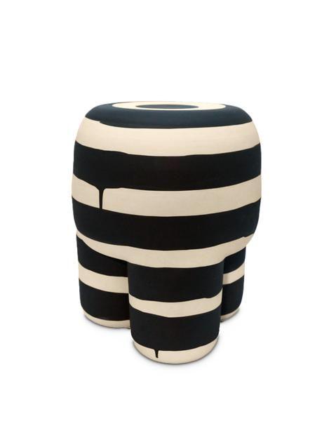 Black Milking Stool by Workaday Handmade