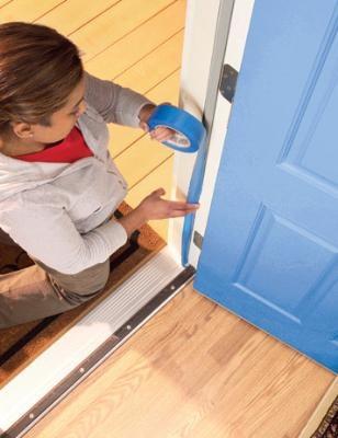 Step by step door painting.