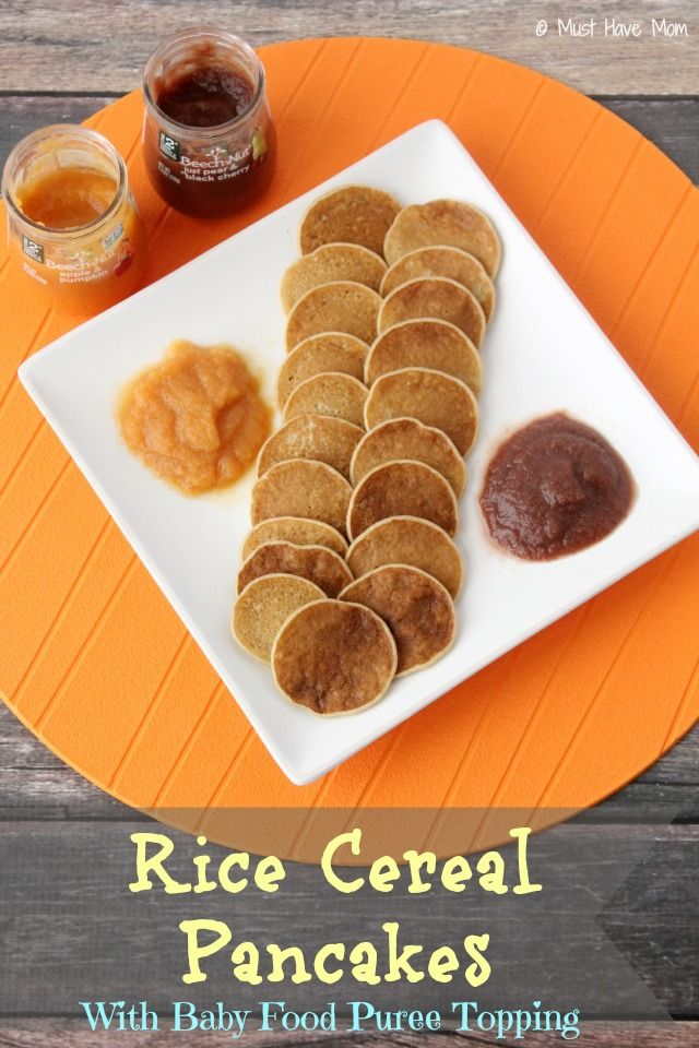 Baby Rice Cereal Pancakes With Fruit Topping Recipe!