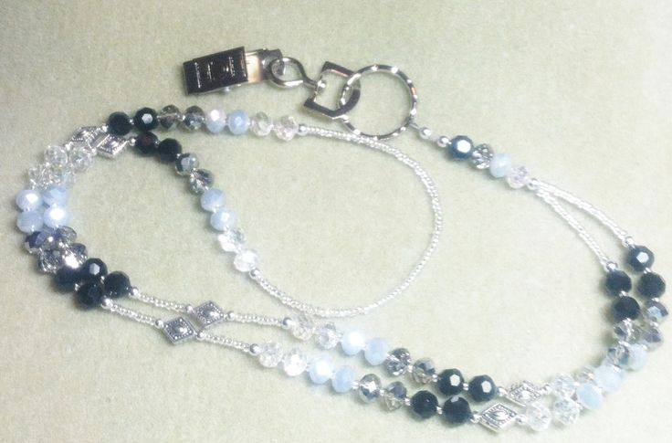 Black Gray Clear Lanyard/ID Badge Holder