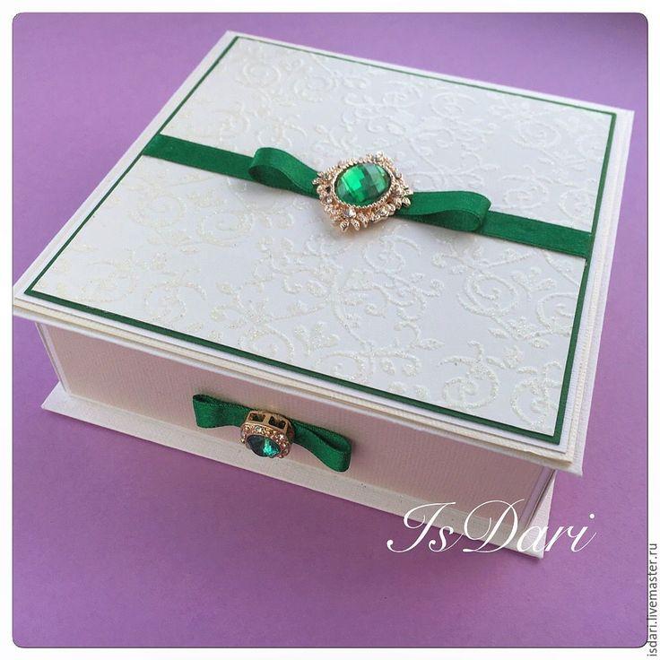 """Купить Большая коробочка для денег """"Изумруд"""" - коробочка для денег, для денег, истомина дарья, isdari, свадьба"""