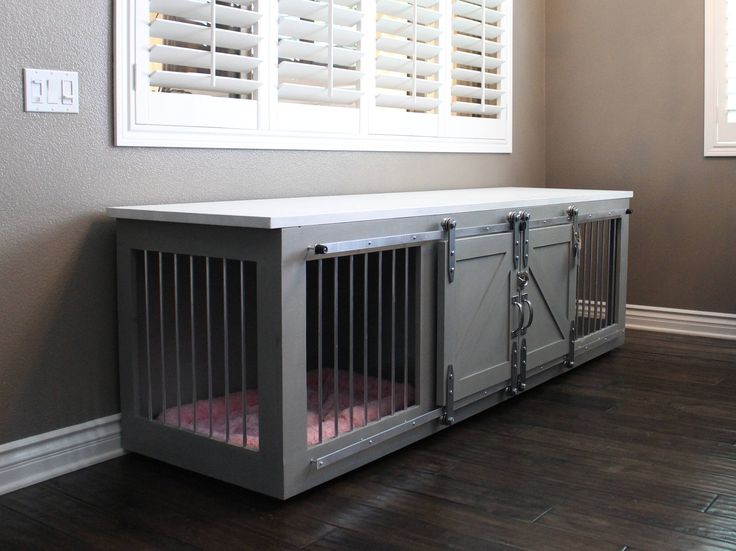 Rustic Dog Crate with Sliding barn doors