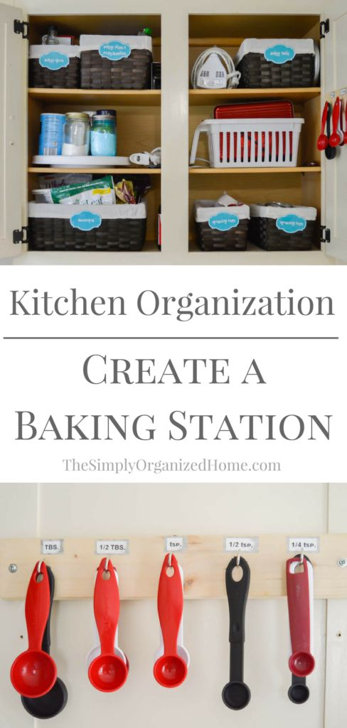 Staying organized in the kitchen can be so hard because it's a room that's constantly used every single day. However, keeping things minimal, simple, and clean can really help! Find out how I stay organized in the kitchen with a super simple and organized baking station!