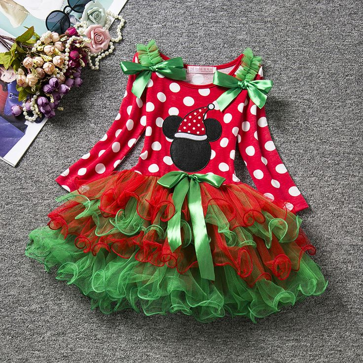 New Year Party Stage Costume Tiered Sheer Dresses Ball Gowns Gift For Girls 0-5Years Gorgeous Clothing Christmas Tutu Dress #Affiliate