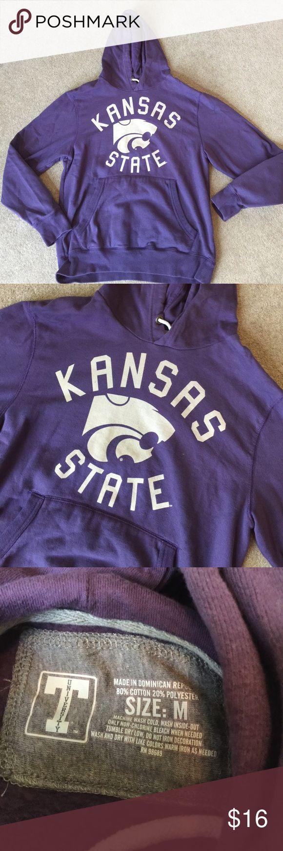 Purple Kansas State hoodie 80% cotton 20% polyester. BK T University Shirts Sweatshirts & Hoodies