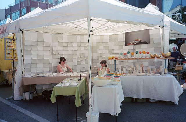 Set up idea for fitting 2 businesses into 1 craft fair booth