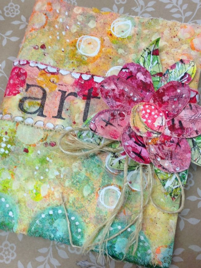 Canvas Art Journal Cover by Lorraine Bell