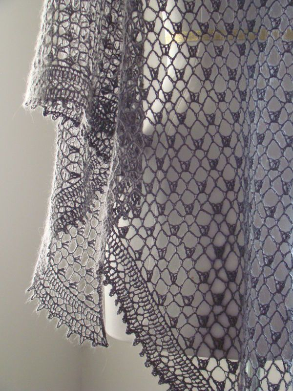 Knitted lace shawl - found the pattern on Ravelry