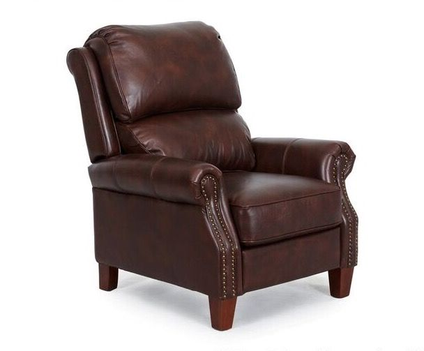 Leather recliner on sale $799.00.
