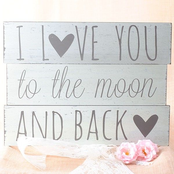Cuadro I Love you to the moon and back. #bodas #vintage #wedding shop.beautifulbluebrides.com
