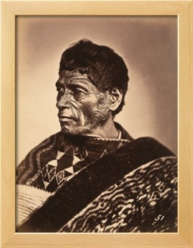 Portrait of a Maori with Tattoed Face Photographic Print at Art.com