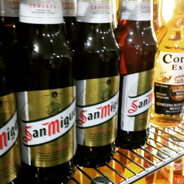 Nothing washes down a burrito better than an ice cold San Miguel