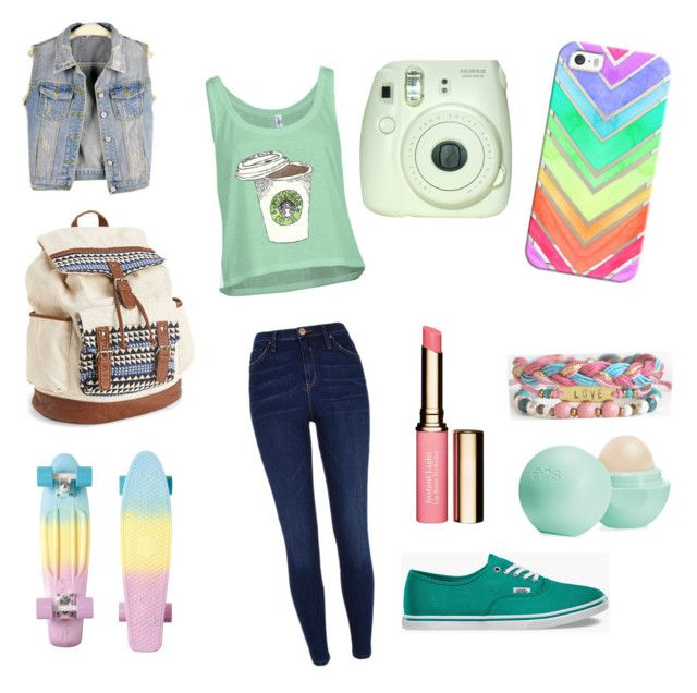 """Cloudy Day at School!"" by allisonawesome7 ❤ liked on Polyvore featuring River Island, Vans, Aéropostale, Clarins, Casetify, Eos and allisoutfits"