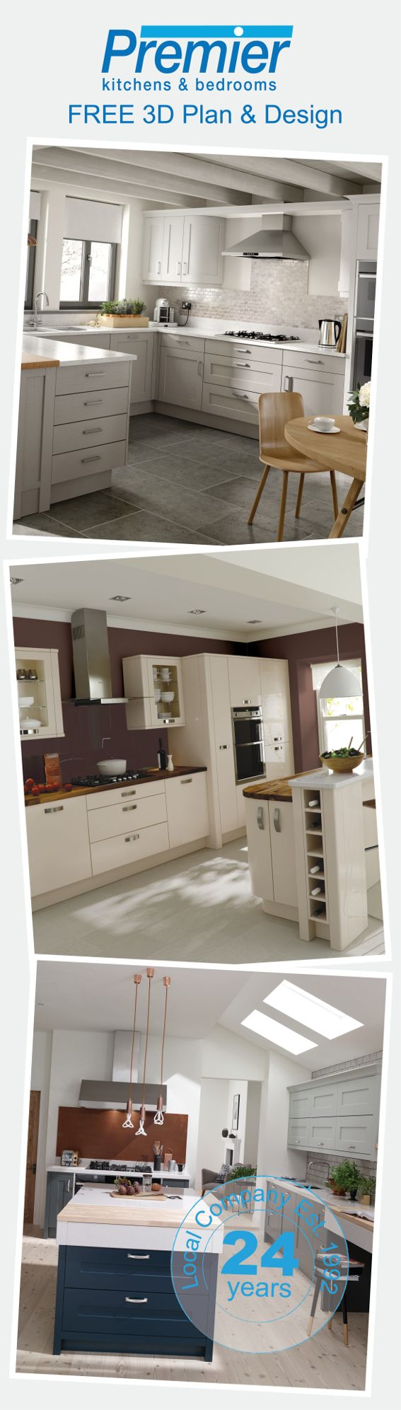 Why not start 2017 with a brand new kitchen? Whether you are looking for a classic or a contemporary kitchen, we have a variety of different ranges to suit every home. So hurry and book your FREE 3D plan and design appointment today and take advantage of our massive January sale!
