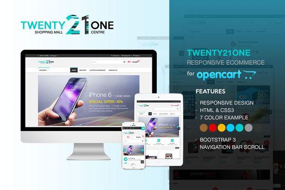 Twenty21One - OpenCart by Ake Design on Creative Market