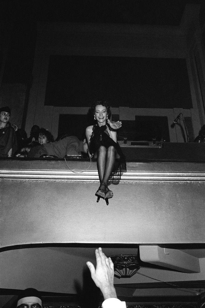 Loulou De La Falaise At The Debut Of Le Palace 1978 Yves Saint Laurent Photo Discotheque
