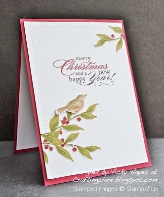 Stampin' Up ideas and supplies from Vicky at Crafting Clare's Paper Moments: A Simply Sketched Christmas