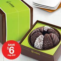 Gourmet Shareable™ Caramel Apple - Black & White Gift Baskets