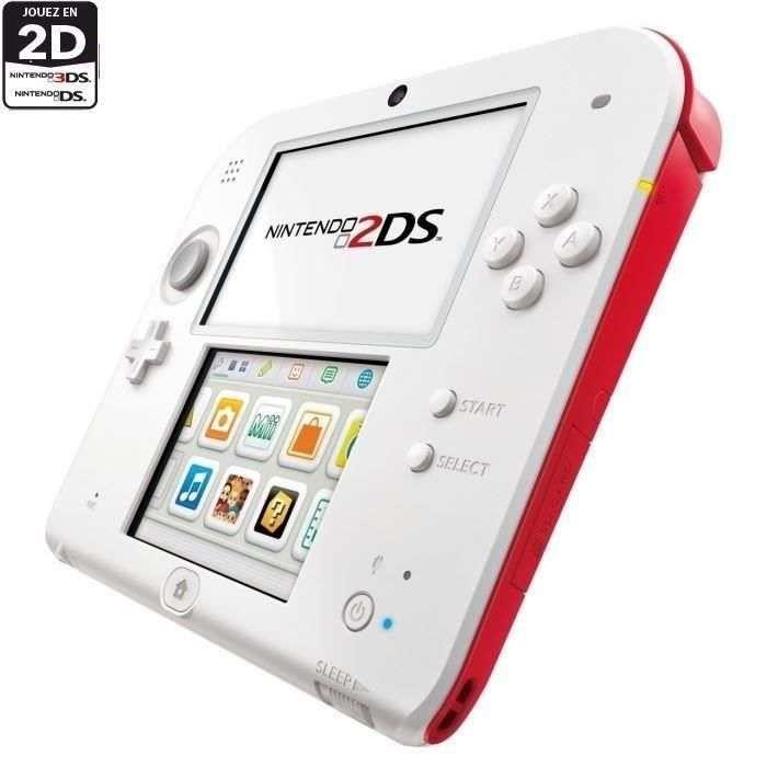 Pack Nintendo 2DS Rouge / Blanche + Animal Crossing New Leaf + Tekken 3D Edition - Achat / Vente console 2ds 2DS Animal Crossing + Tekken - Cadeaux de Noël Cdiscount