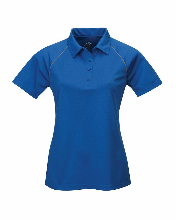 Women's Raglan Knit Polo Shirt (100% Polyester). Tri mountain 225